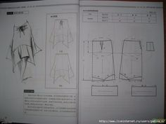 Design and style skirte--etekler - modelist kitapları Womens Skirt Pattern, Skirt Patterns Sewing, Clothing Patterns, Pattern Drafting Tutorials, Sewing Tutorials, Pola Rok, Sewing Pants, Modelista, Fashion Sewing