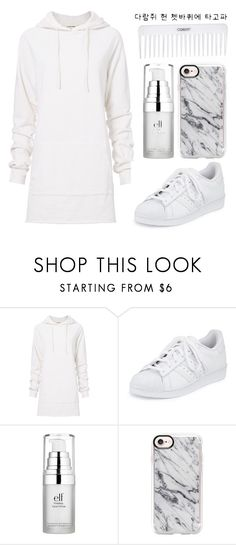 """""""Kawaii"""" by paulahastings ❤ liked on Polyvore featuring Conair, Cotton Citizen, adidas, e.l.f. and Casetify"""