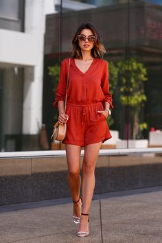 Terra cotta romper, summer, spring outfit