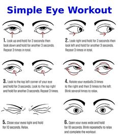 A simple eye workout to try. See other exercises in this article care design care health care care clinic care diy care ideas care workout Health Facts, Health And Nutrition, Health And Beauty Tips, Health Tips, Eye Facts, Eye Sight Improvement, Vision Therapy, Vision Eye, Healthy Eyes