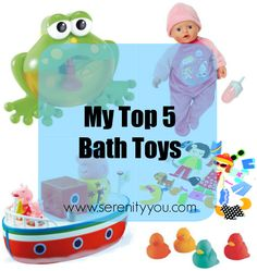 My Top 5 Bath Toys  #kids #toddlers #babies