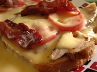 Made famous by the Brown Hotel in Louisville, KY, the Kentucky Hot Brown is an open faced turkey sandwich, topped with tomato slices, cheese...