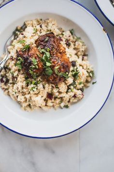 Sticky Meatbals with Cauliflower Quinoa Pilaf 035