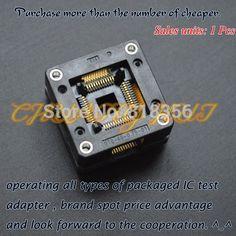59.00$  Buy here - http://ali7qt.worldwells.pw/go.php?t=1876115883 - OTQ-48-0.75-01 test socket TQFP48/QFP48/LQFP48/CQFP48 ic socket  Pitch=0.75mm Size=10x10mm/13x13mm 59.00$