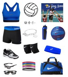 """""""Nike volleyball"""" by tessasantelli ❤ liked on Polyvore featuring NIKE, Alex and Ani, Itsy Bitsy and Asics"""