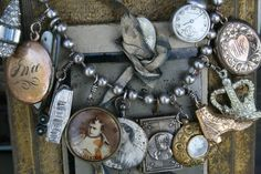 Love this bracelet. Several watches and religious charms, a boot charm and most anything could be used to create this look.