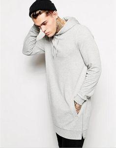 2017 el más nuevo streetwear clothing mens hoodies de las camisetas de gran tamaño de hip hop camisetas largas hombres swag sudadera con capucha cremallera lateral t136 en Camisas y Sudaderas de Ropa y Accesorios en AliExpress.com   Alibaba Group