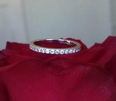Tiffany & Co Full Diamond Eternity Band Novo PT950 0.33tcw size 5.5 RRP $4850