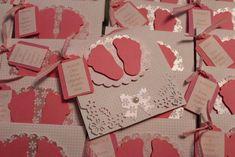 Convite chá de bebê pézinhos rosa | Sweet Scrapbook | Elo7