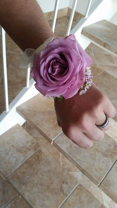 Large rose wrist corsage by Eden's Echo
