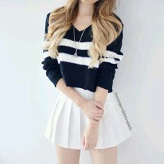 Looks femininos, roupas para magras, roupas para sair, roupas fofas, combin Teen Fashion Outfits, Cute Fashion, Outfits For Teens, Girl Fashion, Autumn Outfits For Teen Girls, Party Outfit For Teen Girls, Cute Casual Outfits, Girly Outfits, Black Skirt Outfits