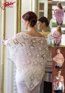 FREE PATTERN 91315. Shawl with spiders