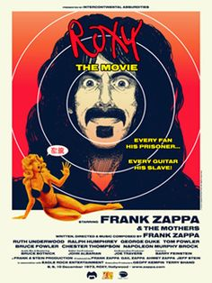 Frank Zappa & The Mothers: Roxy The Movie (Dvd) Frank Zappa, Movies Showing, Movies And Tv Shows, Musica Online, George Duke, Dog Breath, Free Jazz, 2015 Movies, Alternative Movie Posters