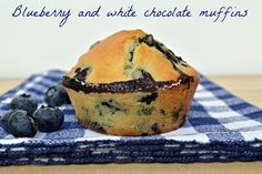 Bread and Butter....: Blueberry and white chocolate muffins!!!