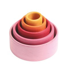 grimm's wooden stacking bowls - perfect for baby girls <3