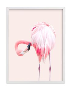 """""""PINK - Limited Edition Art Print by Rega in beautiful frame options and a variety of sizes. Art Wall Kids, Art For Kids, Wall Art Prints, Fine Art Prints, Flamingo Nursery, Bohemian Nursery, Nursery Wall Murals, Letterpress Invitations, Book Gifts"""
