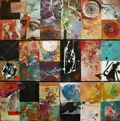"""""""Regarde un peu"""" , 60X60 cm TRIPTYQUE - Photo de A. TABLEAUX DISPONIBLES - Carole Bressan le blog"""