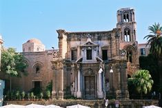 The #church of Santa Maria dell'Ammiraglio, seat of the parish of San Nicolò dei Greci, commonly called the #Martorana, overlooking the Piazza Bellini in Palermo, Sicily, southern Italy.  The church is characterized by the multiplicity of styles that meet, because, with the succession of centuries, it was enriched by various other tastes in art, #architecture and #culture. #travel