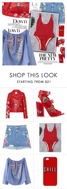 """""""Floral red"""" by vanjazivadinovic ❤ liked on Polyvore featuring Mira Mikati, Laurence Dacade, MANGO, polyvoreeditorial and zaful"""