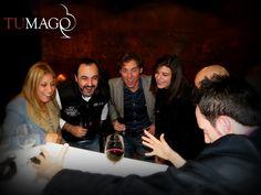 Cata de vinos de Marques de Riscal en el restaurante Nu Sabadell. Tumago puso la ilusión y Jordi Aguilera el arte en el corte. Magia de cerca entre los comensales y número final de Magia al gusto ibérico. www.tumago.com