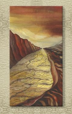 Dry Land - Silk Painting from the Magic Landscapes series