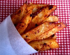 Smoky chipotle parmesan french fries. These would be awesome with a cranberry or pomegranate dip.