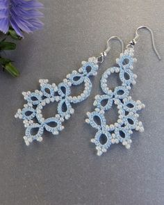 Hey, I found this really awesome Etsy listing at https://www.etsy.com/listing/205139489/tatted-earrings-bridal-earrings-lace