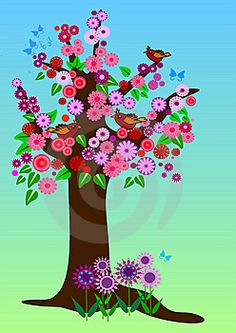 Stock Images: Spring tree with flowers