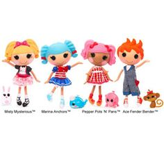 Lalaloopsy Dolls. I can't stop buying them for my daughter Tatiana but I secretly love them for me!!