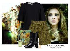 """Philosophy"" by katiethomas-2 ❤ liked on Polyvore featuring moda, Alberta Ferretti, Anuschka, Chloé e Clarins"