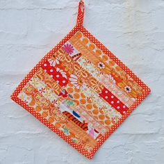 quilted pot holder / hot pad