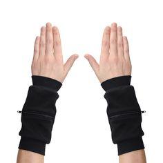 Wrist Zips - Wrist Wallet - Black via Etsy.
