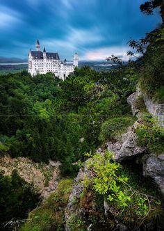 --Neuschwanstein Castle-- by Marek Kijevský on 500px,Neuschwanstein 1869, Schwangau near Füssen, Bavaria, Germany.