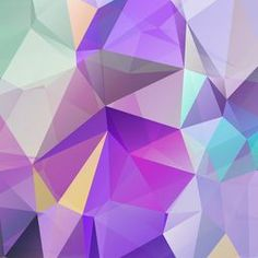 Abstract Triangle Geometrical Multicolored Background | Lena Efremova