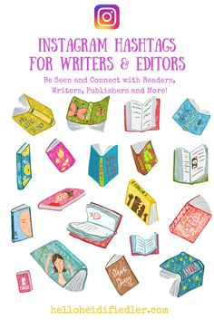 Hashtags for Writers and Editors Book Clip Art, Writing Advice, Open Book, Story Of My Life, Writing Inspiration, Hashtags, My Images, All The Colors, Book Lovers