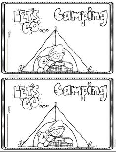 FREE Camping theme phonics mini-book. Great for end of the year and summer school.