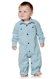 Stoff & Stil - Baby kordfløyel lyseblå 21 wales Wales, Boy Outfits, 21st, Rompers, Sewing, Baby, Clothes, Dresses, Fashion