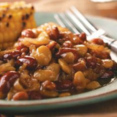 My mother made these when I was growing up. They are, by far, the best baked beans ever! This is another one of those recipes that I have to give out whenever I serve it. This is perfect at any BBQ!