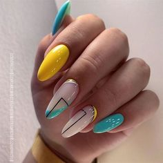 Cute Summer Nail Designs, Cute Summer Nails, Beautiful Nail Designs, Nail Summer, Summer Nails Almond, Crazy Nail Designs, Beautiful Beautiful, Spring Nails, Minimalist Nails
