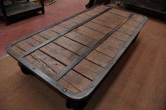 industrial wagon coffee table | FarFetchers.com