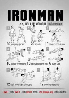 Iron man workout