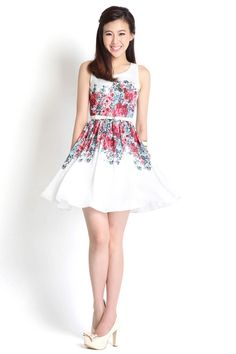 Fleur Skyline Dress In Red | LilyPirates