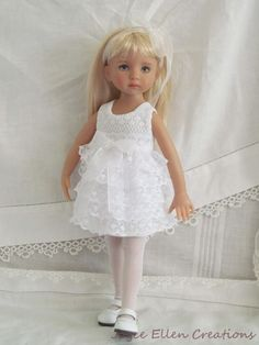 "13"" Effner Little Darling BJD fashion lace fluff dress OOAK handmade by JEC #ClothingAccessories"