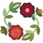 Rose of Sharon machine embroidery designs