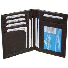 Bi-fold Mens Leather Wallet Credit Card Case #739CF Marshal. $8.99