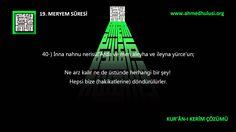 """19 Meryem Suresi: """"www.Ahmed Hulusi.org"""", KUR'ÂN-I KERÎM ÇÖZÜMÜ, Abdussa..."""