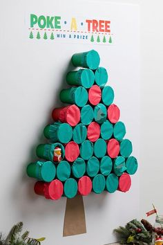 Family Christmas Game Poke-a-Tree Game