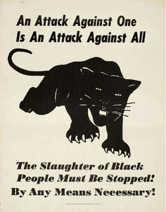 Artist unknown. Black Panther Party poster (c. 1970)