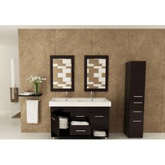 "JWH Living Rigel 48"" Double Bathroom Vanity Set"