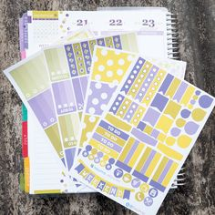 September Theme Old Color Complete Set Sticker Planner // Perfect for Erin Condren Life Planne by FasyShop on Etsy